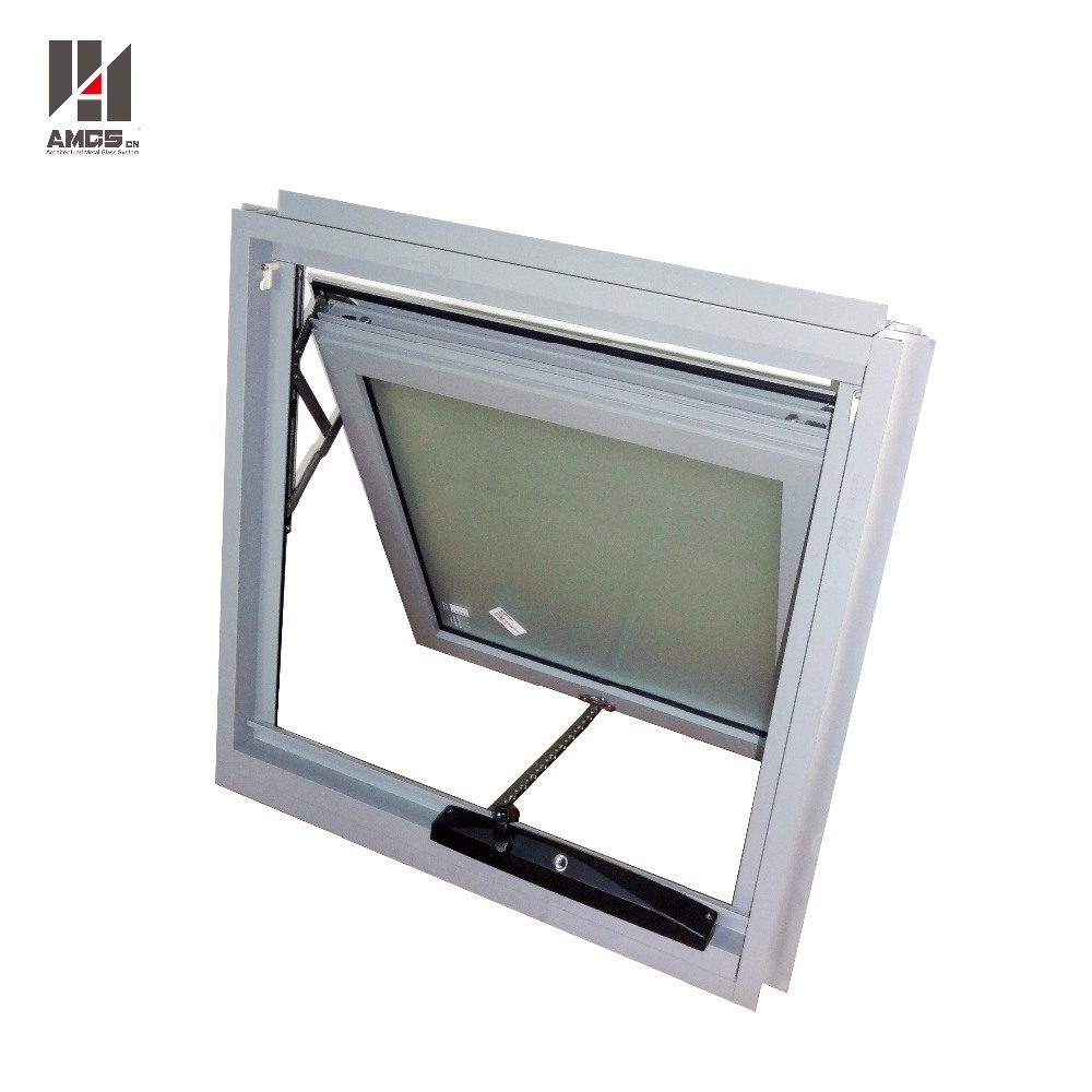 Commercial/Residential White Vertical Double Glass Australia Style Aluminium Awing Windows