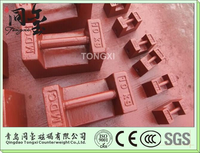 M1 Class 1kg 10kg 20kg 500kg Test Weight for Crane Crane Counter Weight 20kg Cast Iron Weights
