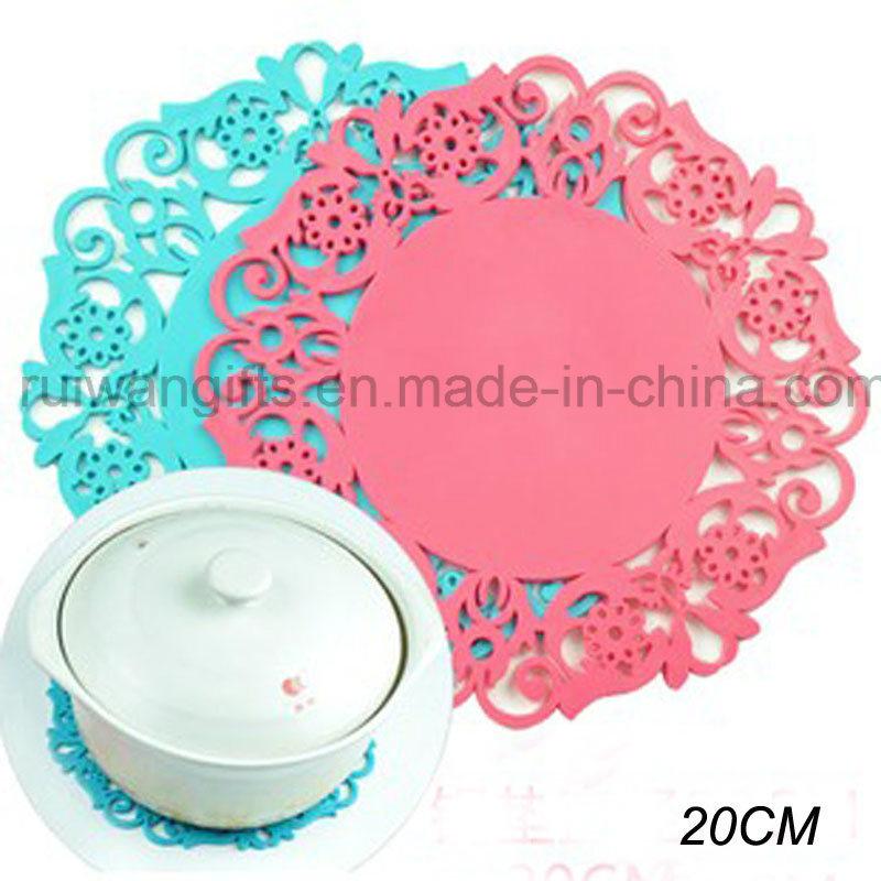 20cm Flower Anti-Slip Silicone Tableware Pad