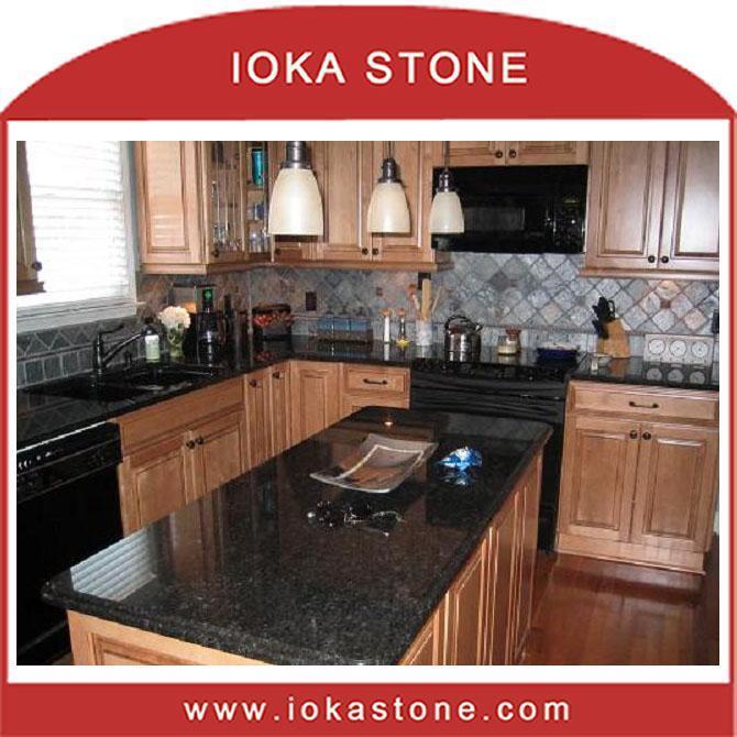 China Black Pearl Granite Kitchen Countertop Table Top CT 304