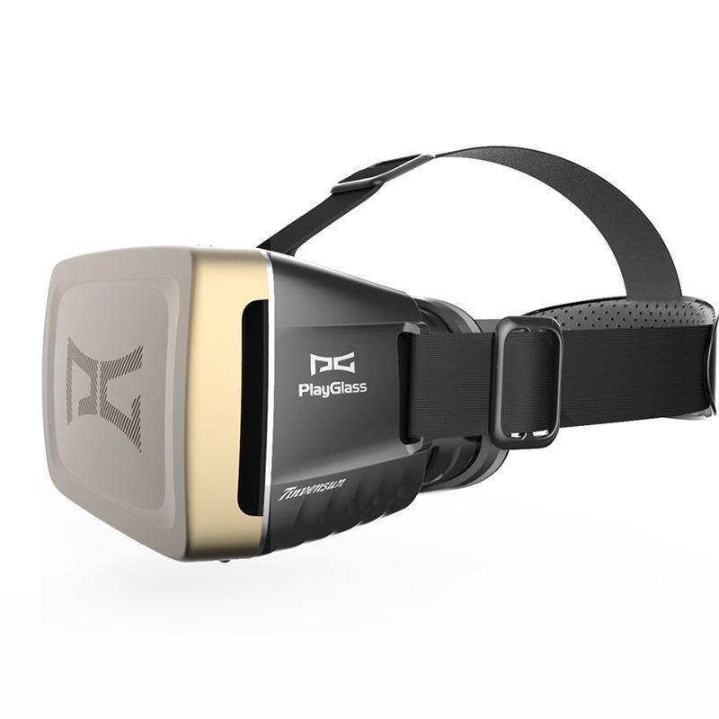 Best X′mas Gift 2016 Playglass Vr 3D Glasses Head Mount Virtual Reality Google Cardboard 3D Video Glasses for iPhone Smartphone