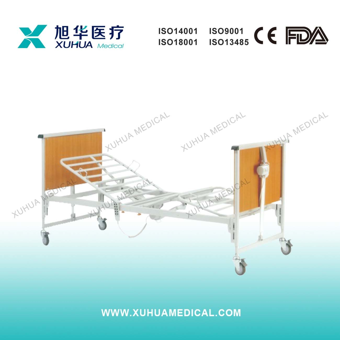 Type-C Electric Wooden Five Functions Medical Bed (Foldable Type)