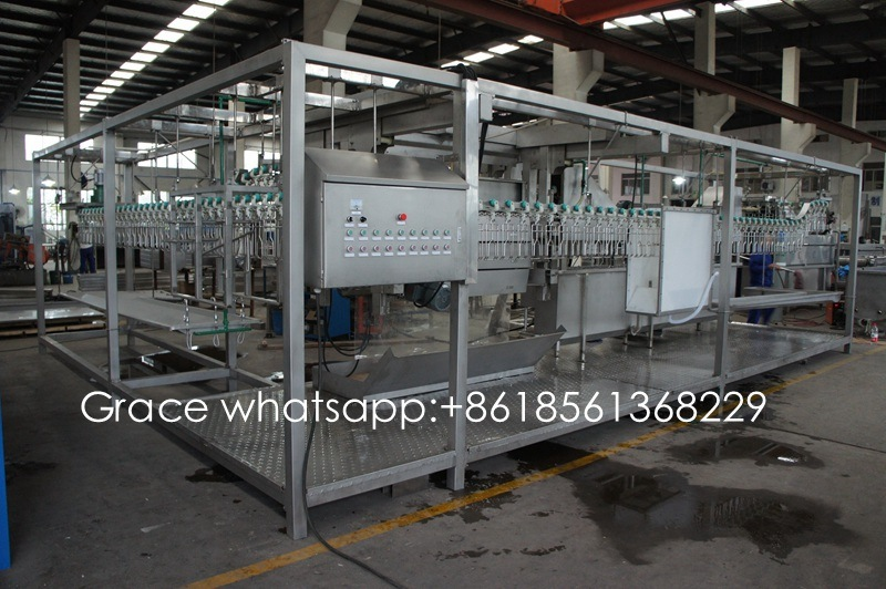 Semi-Auto Small Capacity 200-500 Birds/Hour Poultry Slaughtering Machine for Chicken