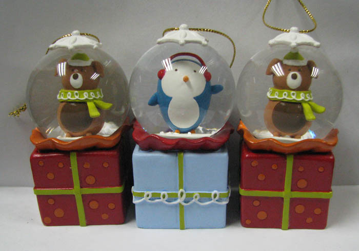 Polyresin Resin Souvenir Music LED Light Snow Globe (HG-003)