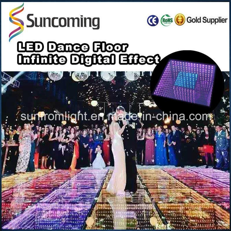 New Design 3D Mirror Time Tunnel DJ LED Dance Floor