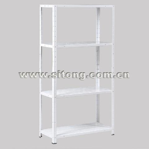 Free Standing Plastic Sprayed Four-Shelves Metal Shelf Garage Storage Rack Display Rack (MS-04)