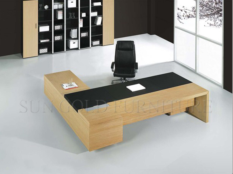 Durable Modern MDF L Shape Office Executive Desk (SZ-OD158)