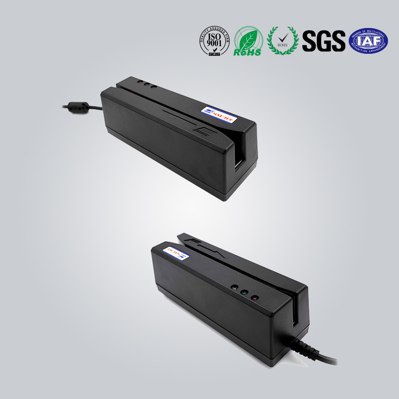 Mini Three Track Magnetic Strip Card Reader with USB Keyboard