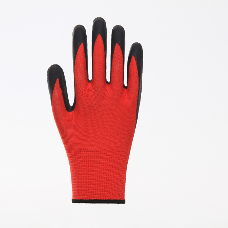 13G Polyester Shell Latex Palm Coated Safety Glove