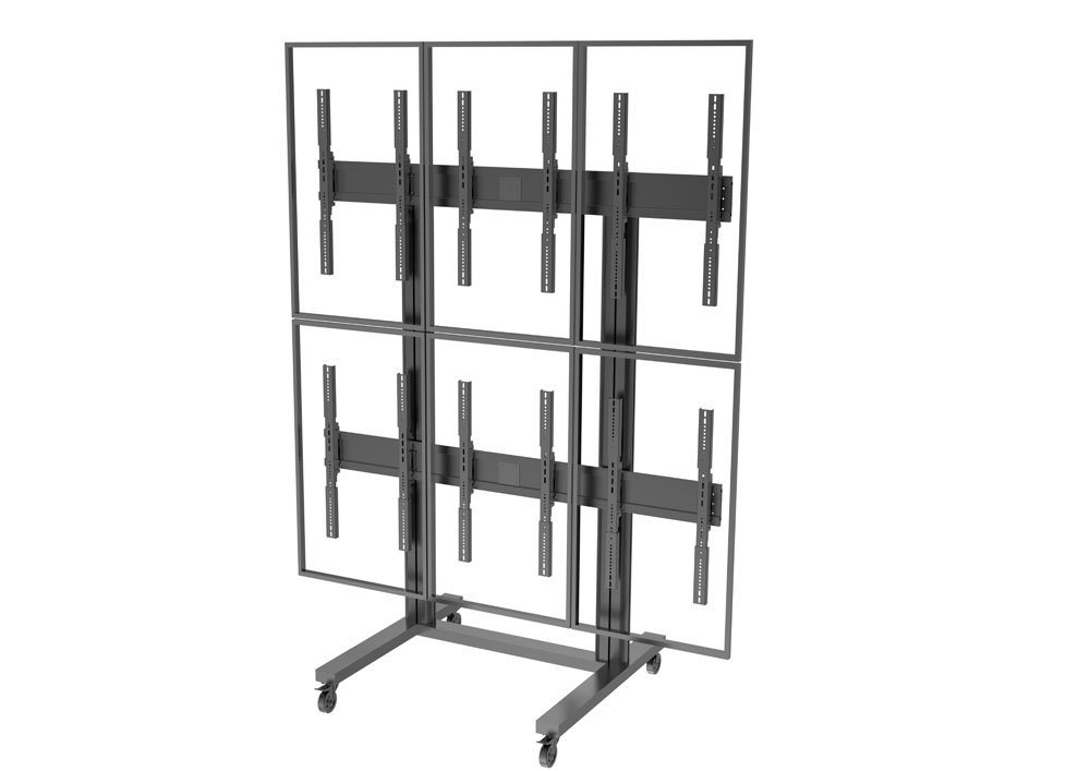 "LCD Wall Stand / Bracket Portrait 6 Screens 40-55"" (2*3)"