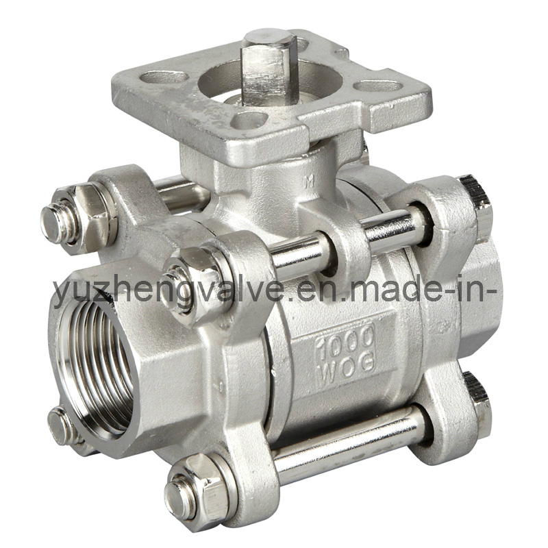 Carbon Steel Thread 3PC Ball Valve
