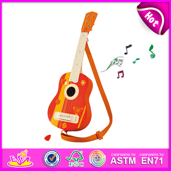 Cheapest Price Wholesale Guitars for Kids, Fashion Wooden Toy Guitar Toy for Children, Hot Sale Wooden Guitar Set Toy W07h034