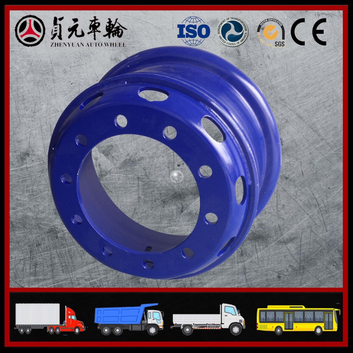 Truck Tube Steel Wheel Rims for Bus/Trailer (8.5-24, 8.00V-20, 8.5-20)