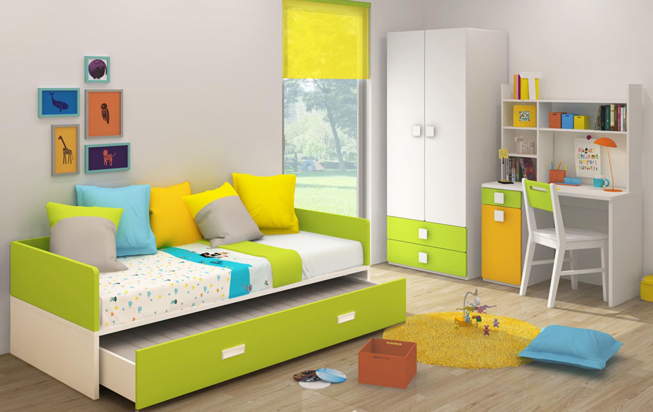Popular Design Colorful Kids Bedroom Furniture (WATT)