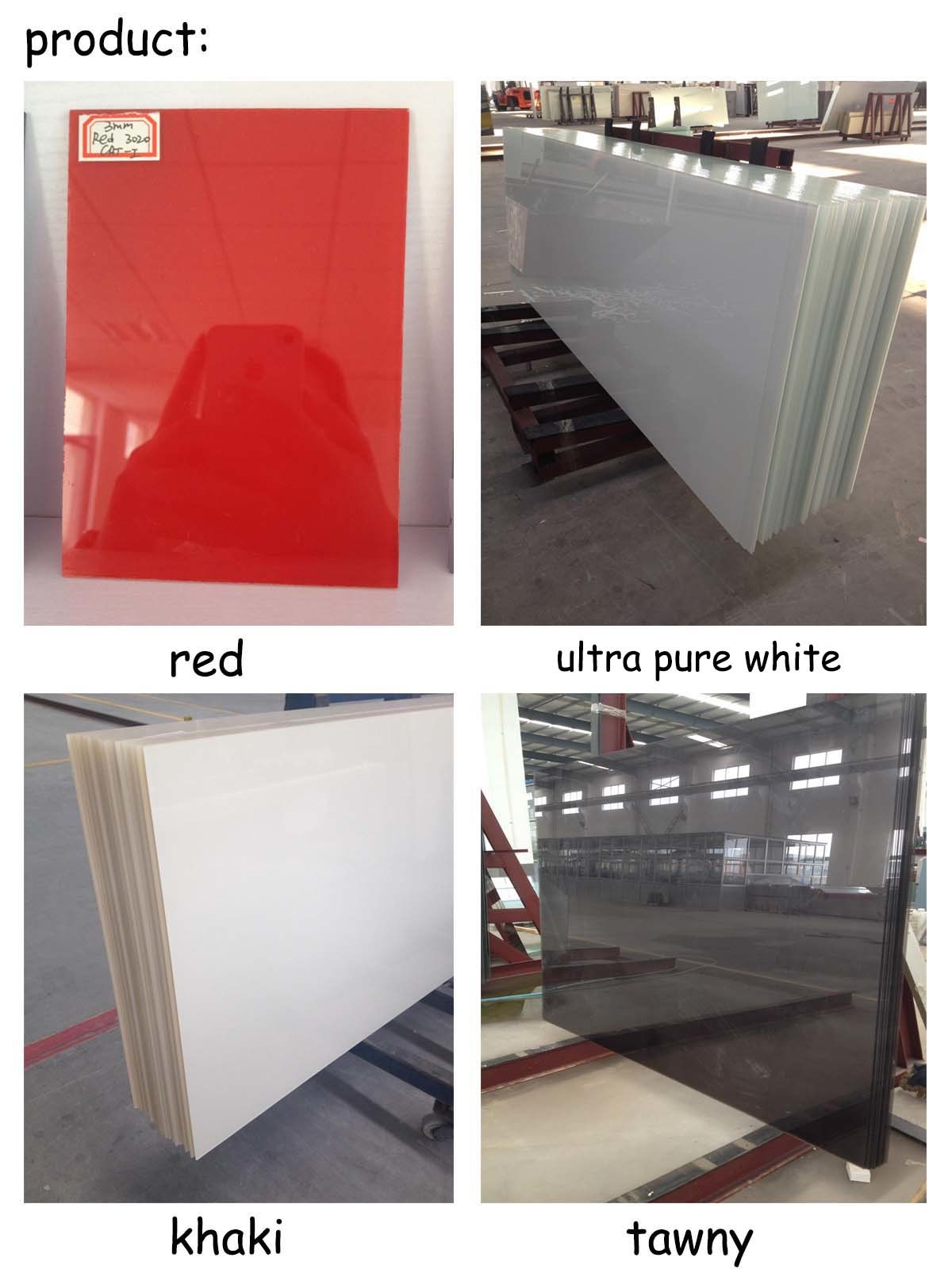 3-6mm Painted Glass/ Colored Glass for Float Glass