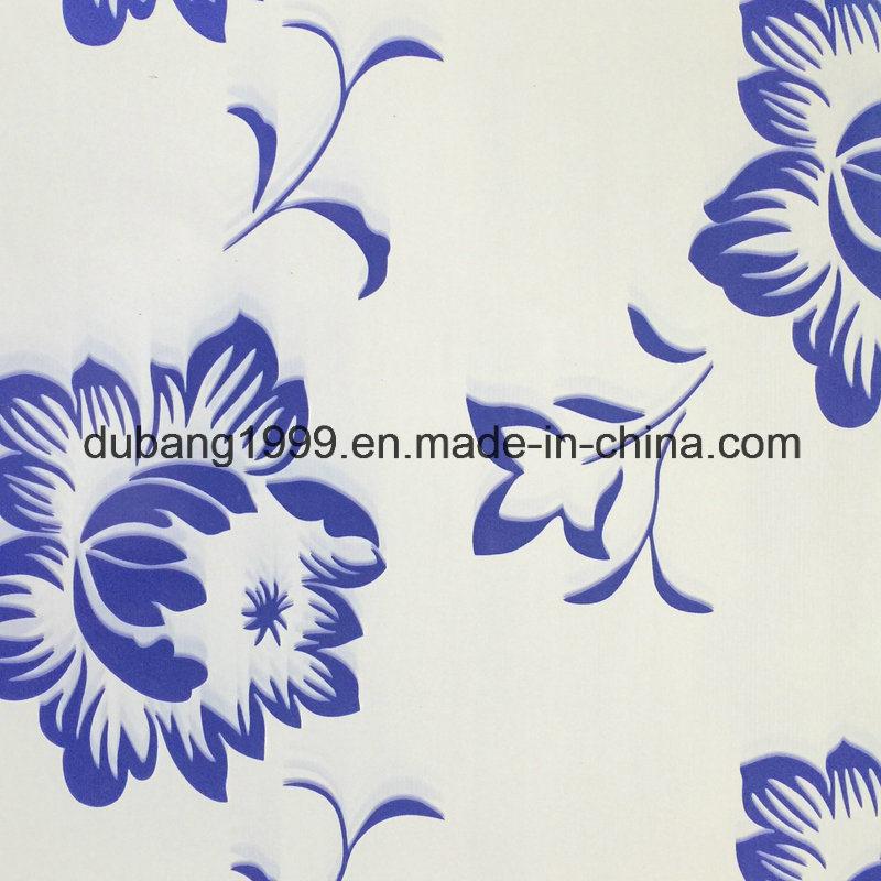 PPGI with Blue Floweral Design and White Bottom