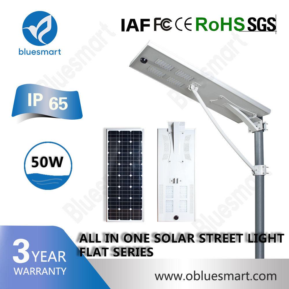 50W Outdoor Soalr Lighting Lamp All in One Solar LED Street Garden Light with 5 Yrs Warranty