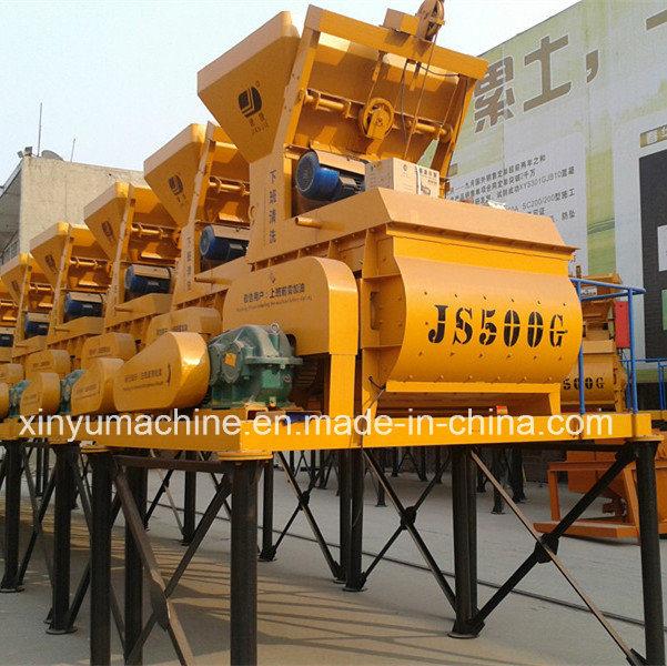 Js Series Twin Shaft Compulsory Concrete Mixer (JS500)