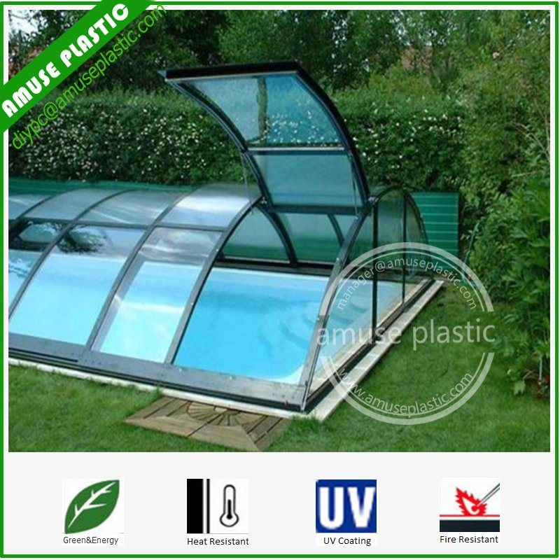 Lexan Makrolon Polycarbonate Embossed Hollow Solid Policarbonato Swimmingpool Sheet Price