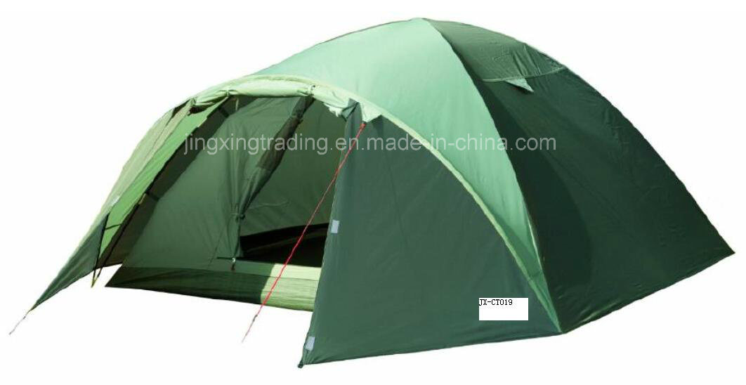 Popular Practical Double-Skin Camping Tent for 4 Persons (JX-CT019-1)