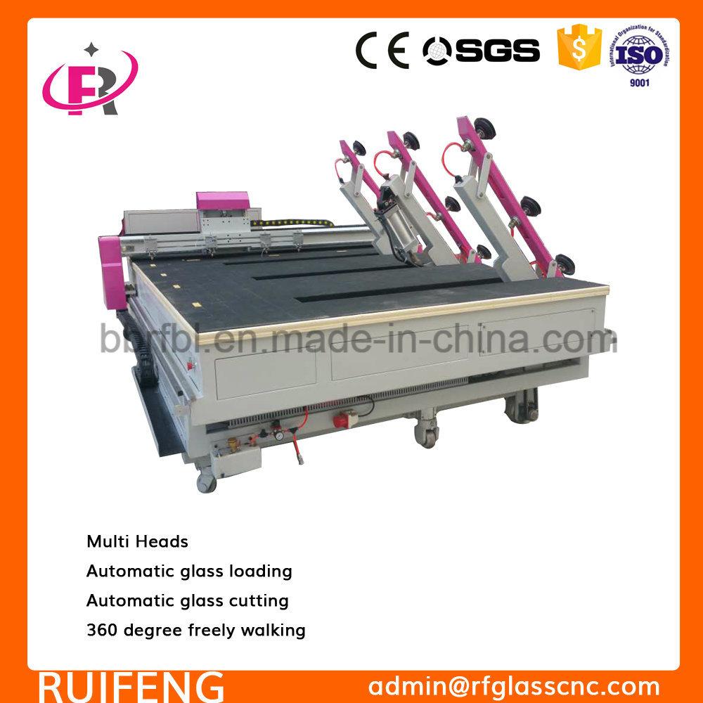 Small Working Size CNC Automatic Glass Cutting Machine with Multi Heads RF800m
