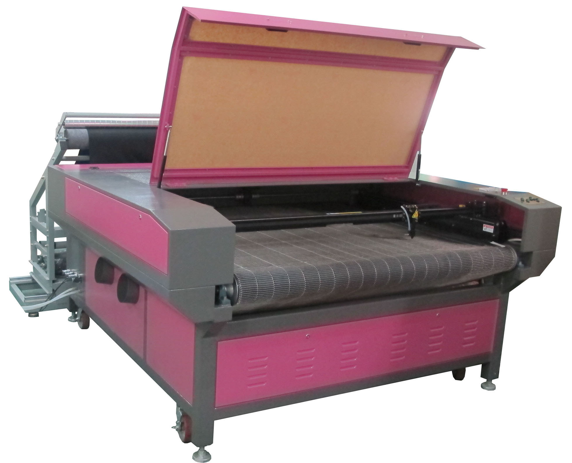 Fabric Auto Feeding Laser Cutting and Engraving Machine 1600X1000mm Dual Heads