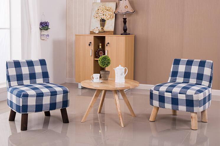 Solid Wooden Chairs Living Room Chairs Colorful Chairs Fabric Chairs Coffee Chairs Fabric Sofa (M-X2052)