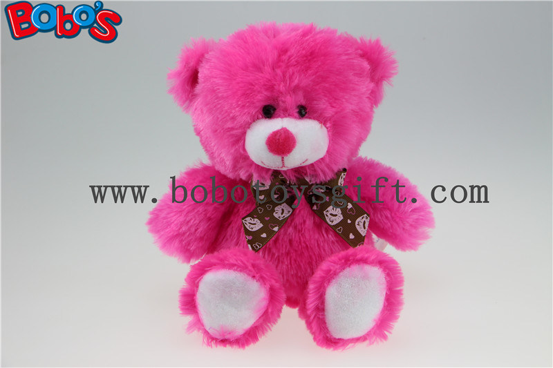 20cm Hot Pink Lips Plush Bear Toy as Valentine Promotional Gift