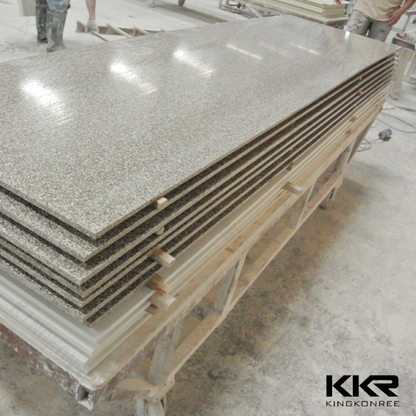 China Immitation Stone Polymer Acrylic Solid Surface Slabs