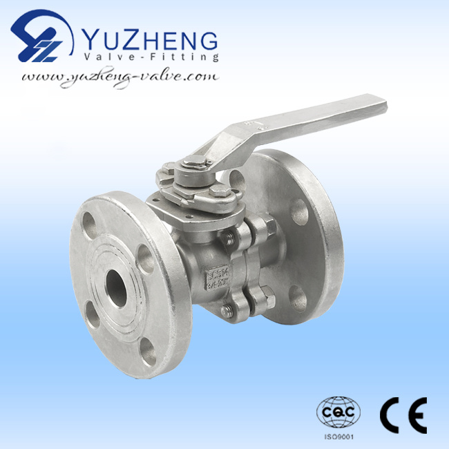 Stainless Steel JIS Flanged Floating Ball Valve with CE Certificate