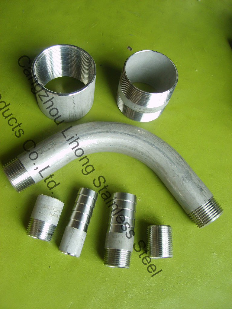 """1/4"""" Stainless Steel 316L DIN2999 Barrel Nipple From Pipe"""