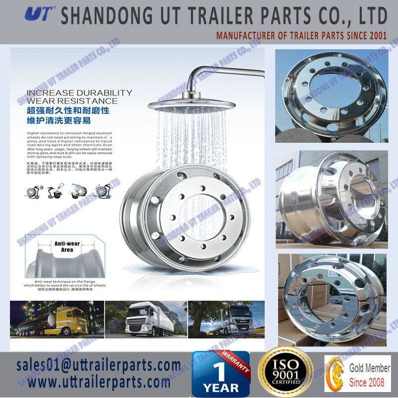 17.5′′ Forged Trailer Aluminum Wheel Rim European & American Type