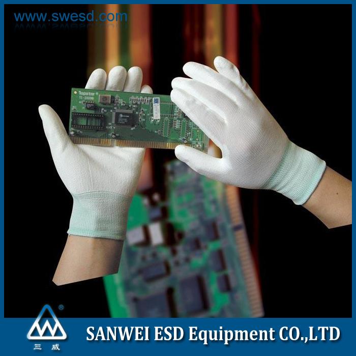 ESD Antistatic Carbon Fiber PU Palm Glove