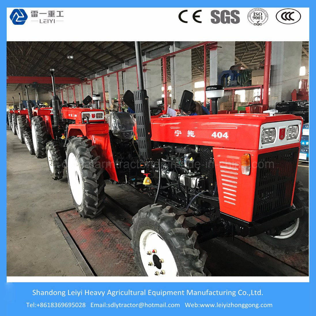 Mini Farming/Agricultural/Compact/Lawn Weifang Tractor with Farm Machinery Diesel (40HP/48HP/55HP)