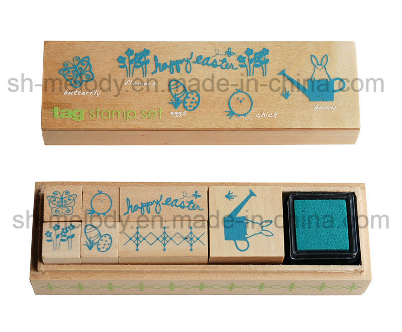 Easter Wooden Stamp Kit/Rubber Stamp Kit