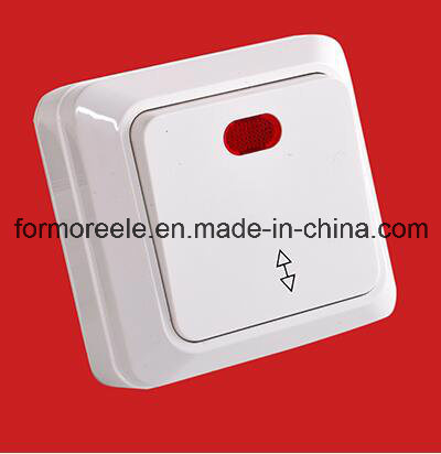 European Style Surface Mounted 2 Gang 1 Way Switch with Light