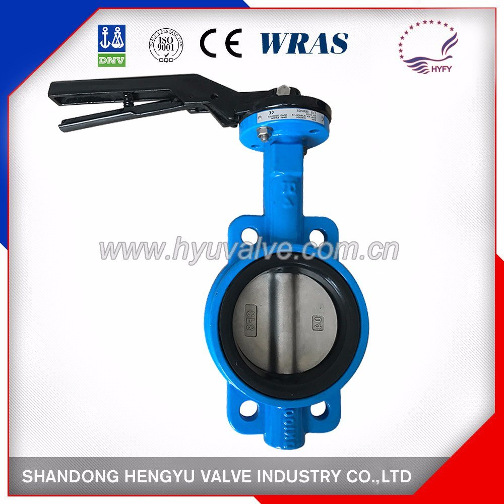 Cast Iron Wafer Type Butterfly Valve with Single Shaft