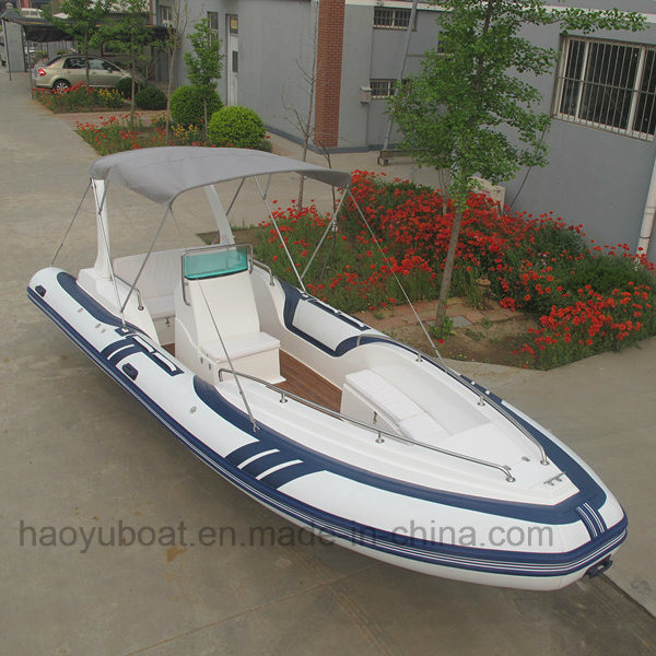 Luxury Speed Boat, Rescue Boat, Fiberglass Boat, Rib Boat, Made in China Hypalon Boat Rib730c