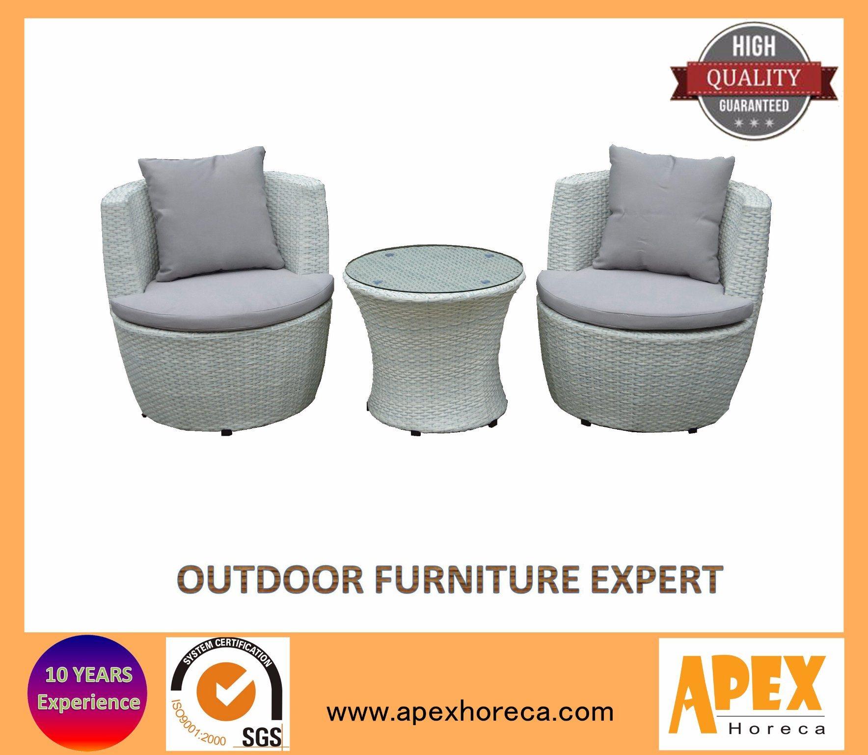 Wicker Sofa Set Outdoor Furniture Rattan Balcony Furniture Lounge Sofa