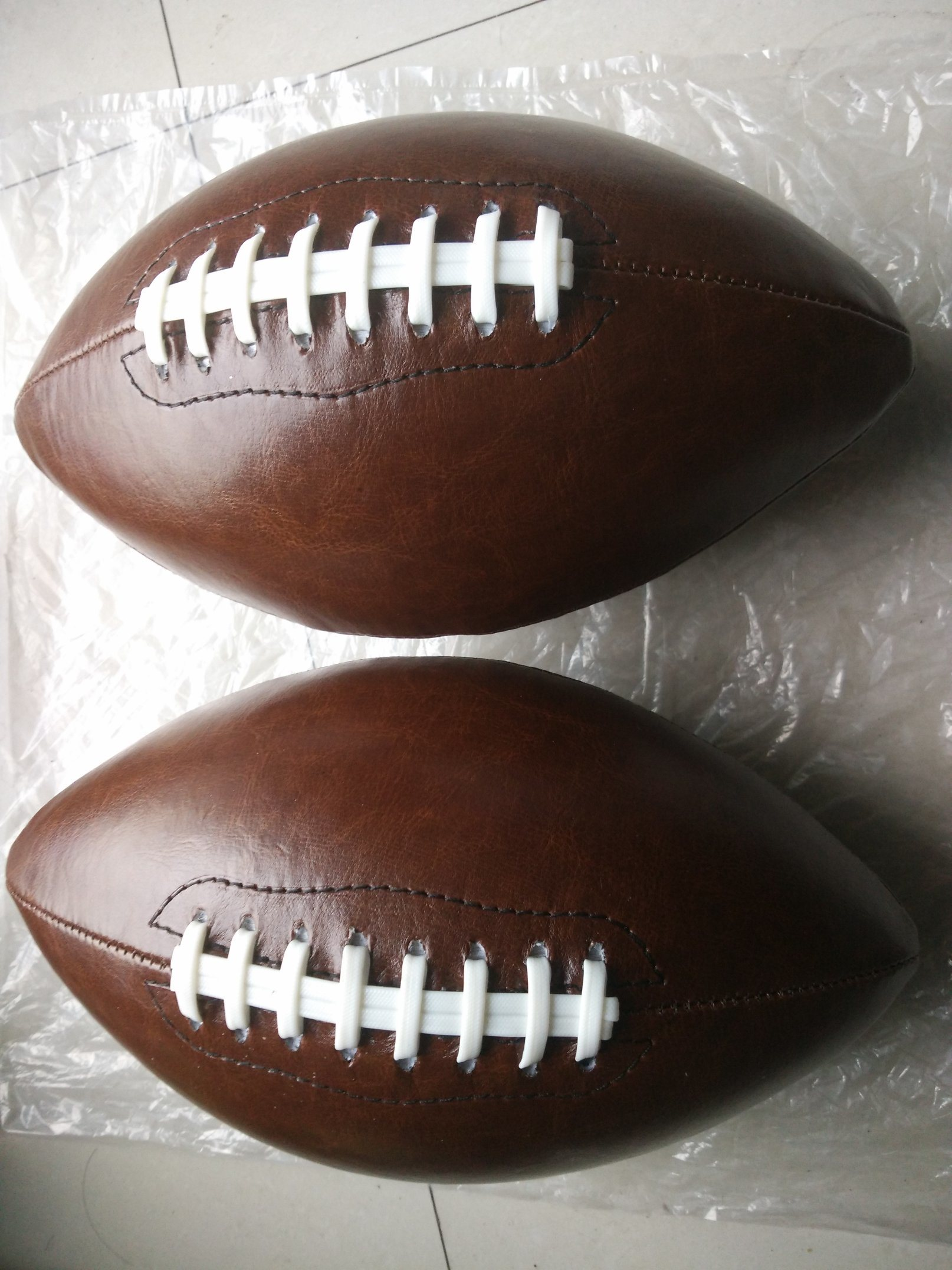 1# PVC Machine Stitching Brown American Football