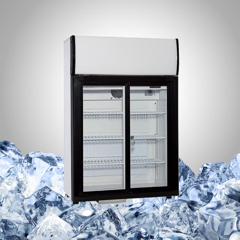 Slide Door Countertop Refrigerator for Drink