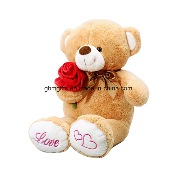 Lovely Teddy Bear Plush Toys with Rose