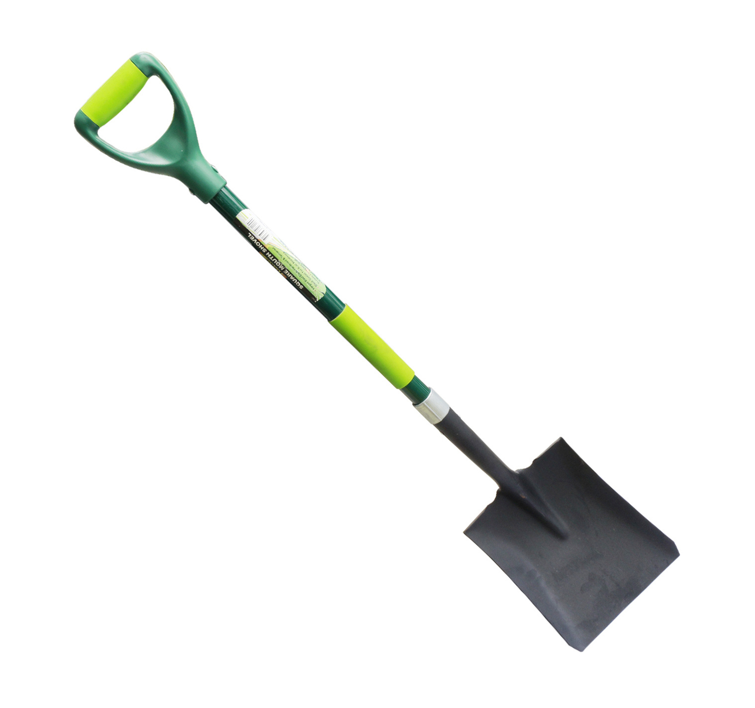 Garden Tools D Shaped Forged Steel Square Point Shovel with Fibreglass Handle