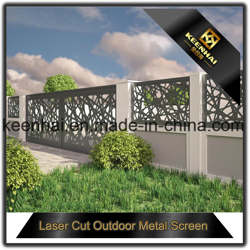 Exterior Laser Cut Aluminum Garden Iron Fence Panel for Security