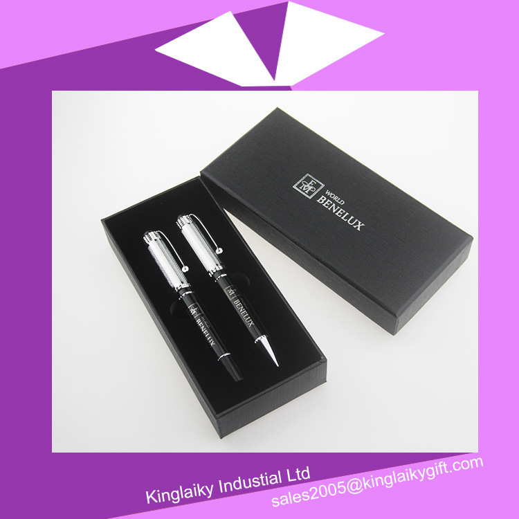 Metal Ball Pen with Gel Pen in Set for Promotional Gift