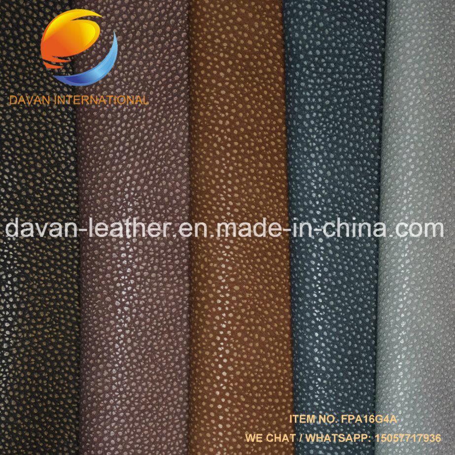 Synthetic Leather Leechi Grain Good Hand Feeling for Handbag Shoes