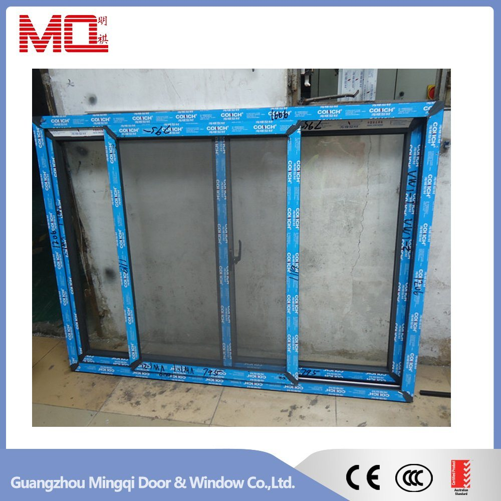 China Supplier PVC Sliding Glass Window with Mosquito Net Mq-03