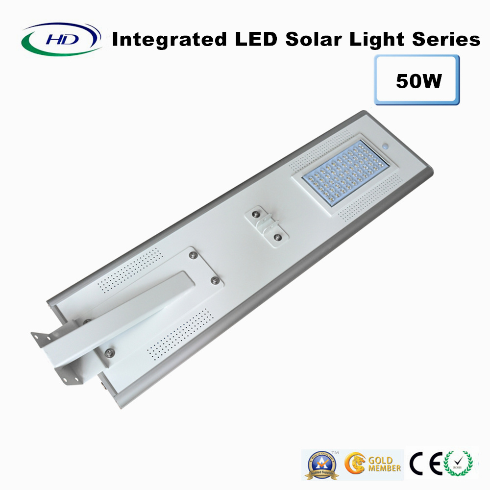 50W PIR Sensor Integrated LED Solar Street Light