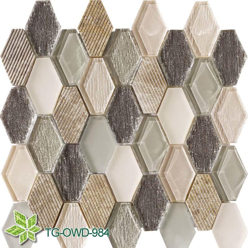 Brown Irregular Glass Mossaic (TG-OWD-984)