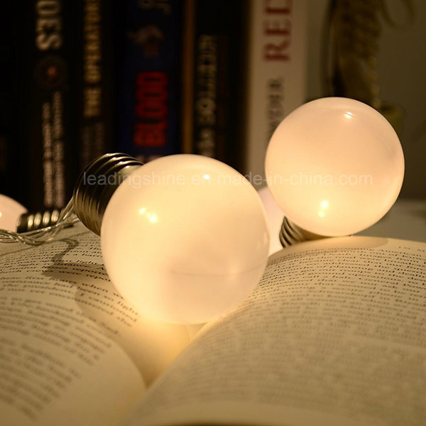 Bulb String Lights Warm Battery Operated LED Ball Fairy Starry Light for Garden Party Christmas New Year